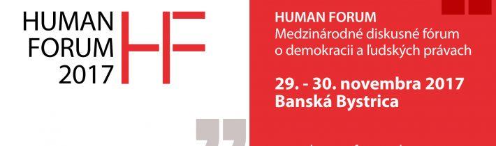 Pripravujeme 4. ročník podujatia HUMAN FORUM